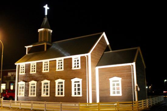 Arborg, Iceland: église de côté