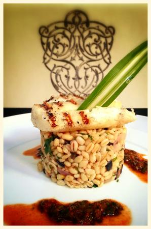 Eden à Palais Amani : Grilled sea bream with its cracked wheat risotto