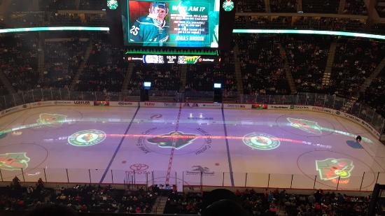 excel energy center  VIEW OF THE ICE FROM MY SEAT - Picture of Xcel Energy Center, Saint ...