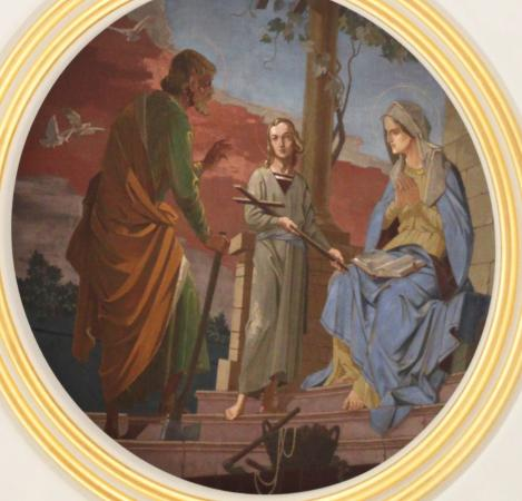 ‪‪Emmitsburg‬, ‪Maryland‬: A painting representing the Holy Family, in the peak of the dome‬