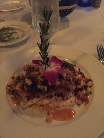 Fresh Catch Bistro: Spiced Pecan & Cranberry Crusted Grouper