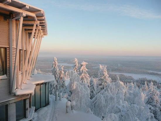 Iso-Syote, Finland: view from the side of the hotel