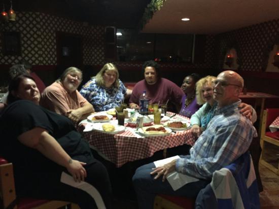 Kenosha, WI: Enjoying our meal at Renzo's