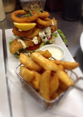 Levin, Nya Zeeland: fish sandwich