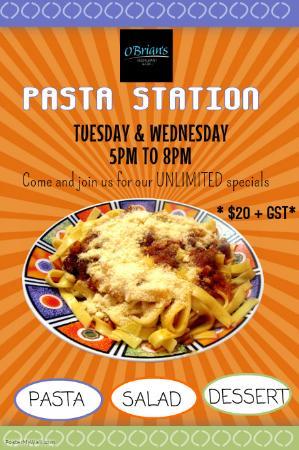 O'Brians Restaurant & Grill: Pasta Station