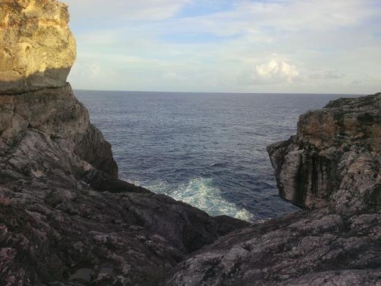 Glass Window: Atlantic Ocean