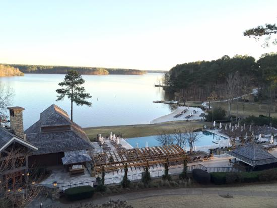 Greensboro, GA: Great view from the upper balcony by reception