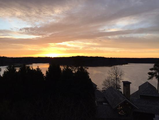 Greensboro, GA: Sunset from corner Suite