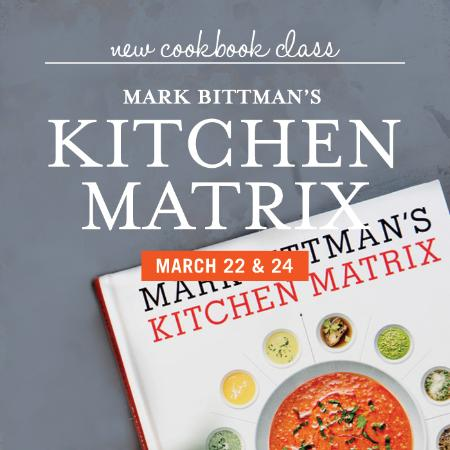 Wellesley, Массачусетс: Mark Bittman's Kitchen Matrix Cooking Class