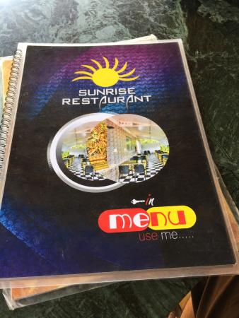 SUNRISE RESTAURANT & GUEST HOUSE: The view and the menu mugshot