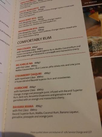 Hard Rock Cafe Singapore Menu Price