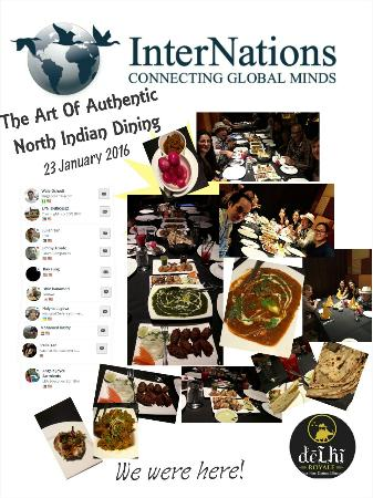 Held Internations event here from different parts of the world and everyone enjoyed the food and