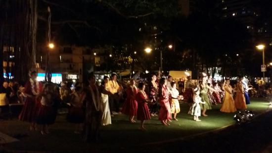kuhio beach torch lighting hula ceremony picture of kuhio beach