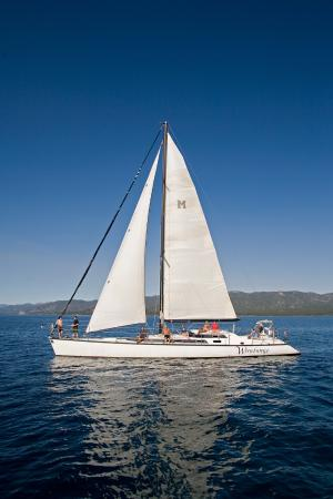 Tahoma, CA: The Woodwind sailboat
