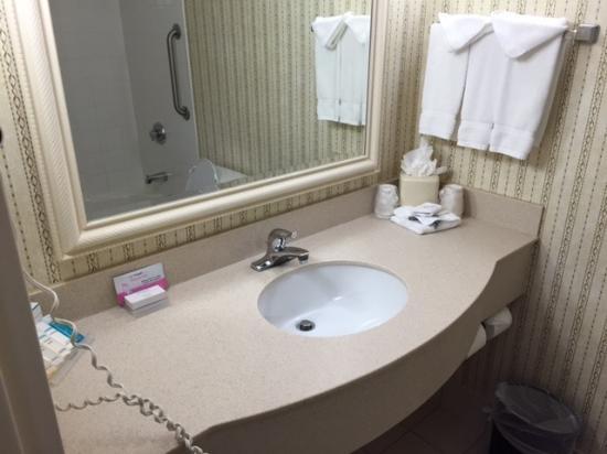 Hilton Garden Inn Owings Mills: Bathroom Counter Photo
