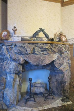 Glen Eyrie Castle: This is half of General Palmer's original fireplace- the story is great