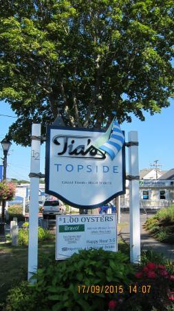 Kennebunkport, Maine: Вывеска с рекомендацией TripAdvisor