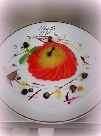 The Tipple Inn: Poached Pear With Chocolate & Almonds