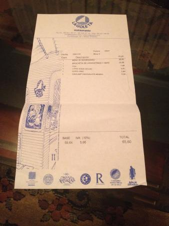 ticket La Goleta
