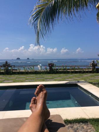 Hotel Genggong at Candidasa: View from pool