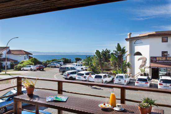 Aloe Again Beach Accommodation: Balcony with view