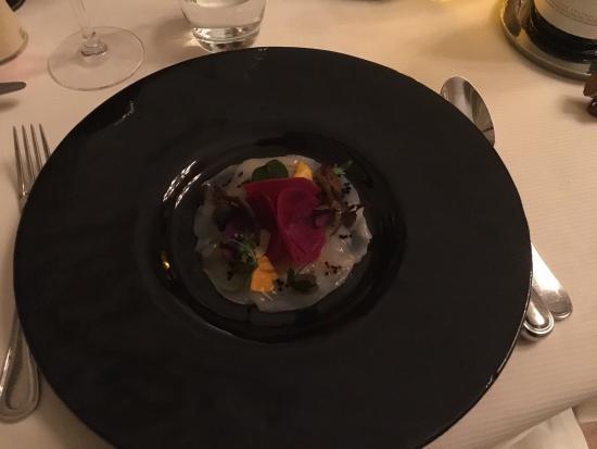 Restaurant L'Opéra : Carpaccio de Saint Jacques