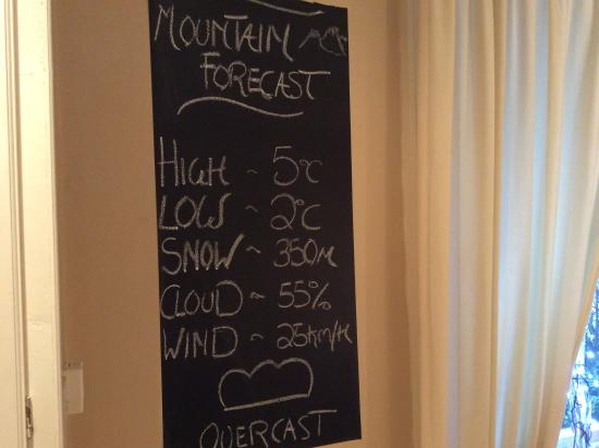 Orrest Cottage Bed & Breakfast: Mountain weather