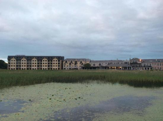 From the old castle's ruins, The Lake Hotel