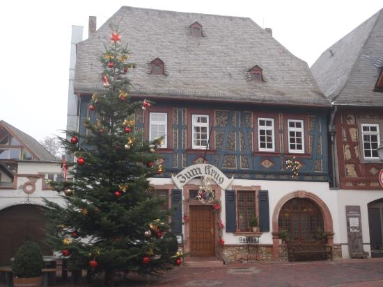 Hattenheim, Γερμανία: Hotel decorated for Christmas