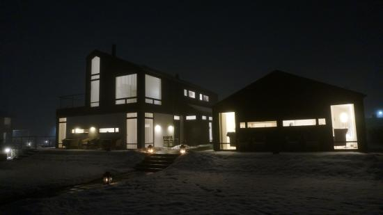Bogense, Denmark: Winter night at Lunds Hotel