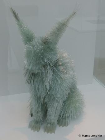 Corning, NY: Lynx (Glass sculpture, modern art)