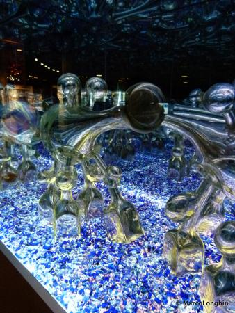 Corning, NY: Glass sculpture, modern art