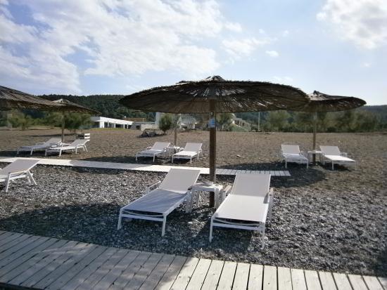 Agia Anna, Grécia: Άποψη της παραλίας και του ξενοδοχείου