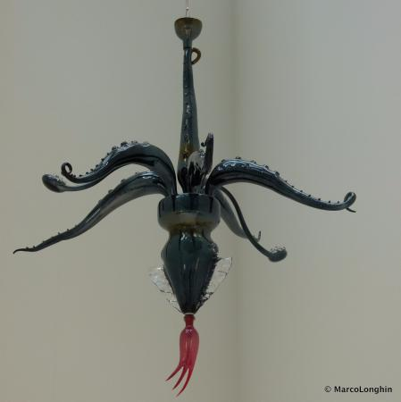 Corning, NY: Moder artistic chandelier
