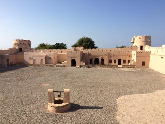 Sur, Oman: Square with well