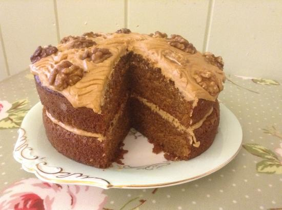 St. Peter, UK: Very popular Coffee and Walnut cake