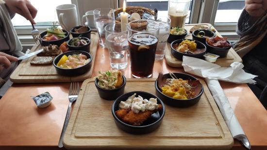 Vedbaek, Danimarka: Smørrebrød på Café Rosenhuset
