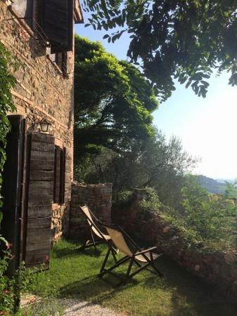 Торрита-ди-Сиена, Италия: Garten vor Zimmer