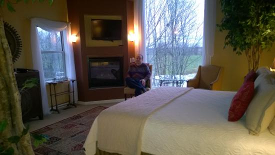 Allegan, MI: our lovely room King Arthur