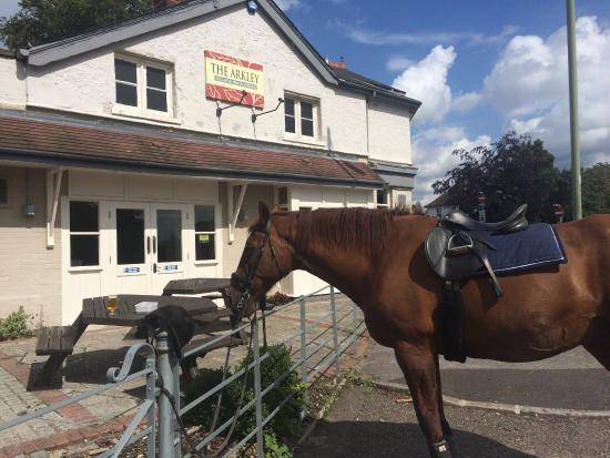 Barnet, UK: Stopped for a pint