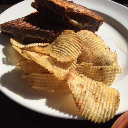 Del Mar, CA: Tuna melt  and  breakfast potatoes