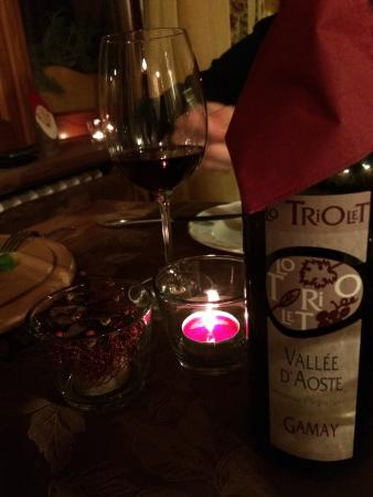 Challand Saint Anselme, Italia: Cenetta romantica