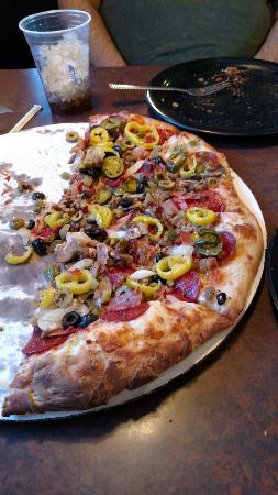 "Wise, VA: Two of us had a hard time eating half of the large ""Absolute"" pizza, which has 13 toppings!"