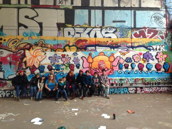 Graffiti mural workshop – fénykép
