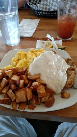 Brookings, OR: chicken fried steak