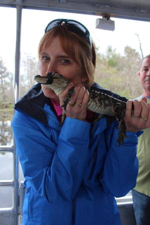 LaPlace, LA: The small gators on board for touching