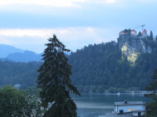 Vila Gorenka : Lake Bled and Bled Castle from room #10