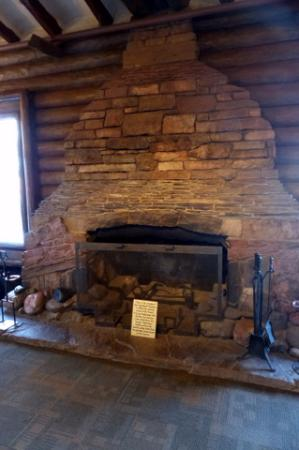 Mary Colters Fireplace at the Bright Angel Hotel Picture of