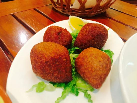 Wafi Gourmet: Kibbeh - quite good. A bit small. Light and cut crunchy. Disappointed when they were all gone! -