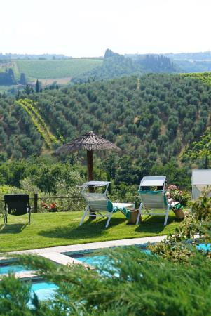 Salvadonica - Borgo Agrituristico del Chianti: Lounge area with fascinating view